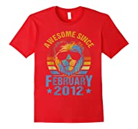 Lion 2012 Awesome February 8th Birthday Gifts King T-shirt Red
