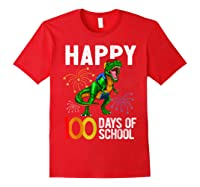 100 Days Of School Dinosaur T Rex Pencil Backpack Gift Shirts Red