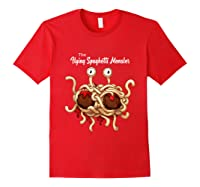 Flying Spaghetti Monster Pastafarian Vintage Shirts Red