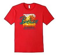 Belize Ambergris Caye Retro Vintage Travel Shirts Red