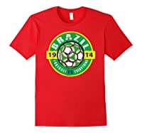 Football Is Everything - Brazil Vintage T-shirt Red