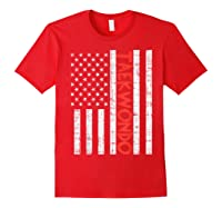 Us Flag Taekwondo Vintage Patriotic Martial Arts Lover Gift T-shirt Red