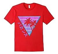 90's Retro Palm Japanese Otaku Grunge Aesthetic Vaporwave Shirts Red