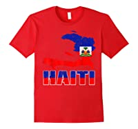 Vintage Haitian Flag I Love Haiti Shirts Red