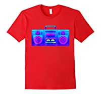 Boombox Trippy Hip Hop Rave Shirts Red