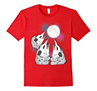Three Opossum Moon S Shirts Red