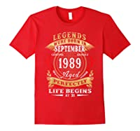 Legends Were Born In September 1989 31st Birthday Gift Shirts Red
