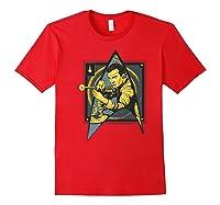 Star Trek Captain James Tiberius Kirk Fan Art Shirts Red