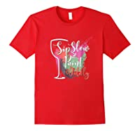 Paint And Sip Art Night Party Wine Canvas Wild Fun Shirts Red