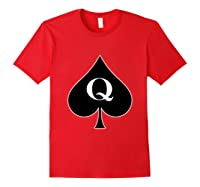 Queen Of Spades Tattoo. Perfect Gift Idea Bbc Lovers Shirts Red