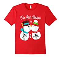 Our First Christmas As Mr And Mrs 2019 Matching Couple Shirt Red