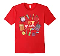 1st Grade Diva Girls First Day Of School Shirts Red
