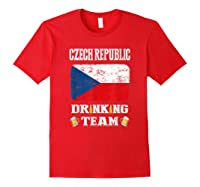 Czech Republic Drinking Team Funny Beer T Shirt Red