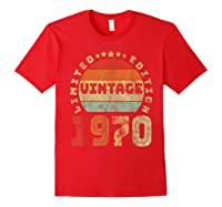 50th Birthday Gifts Retro Vintage 1970 Limited Edition T-shirt Red