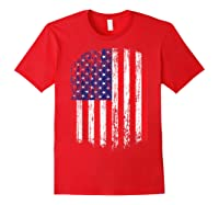 Distressed American Flag, Patriotic Shirts Red