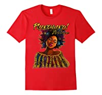 Phenoal Natural Hair Gift For Black Woman Shirts Red