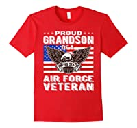 Proud Grandson Of Air Force Veteran Patriotic Military Gifts Shirts Red