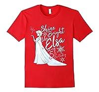 Frozen Elsa Shine Bright On My 5th Birthday Shirts Red