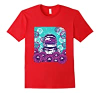 Astronaut Flowers Daisy Bubble Ocean Shirts Red