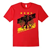 Germany Soccer Style Deutschland 1990 Shirts Red