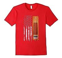 Vintage Pedal Steel Shirt - American Us Flag Shirt Red