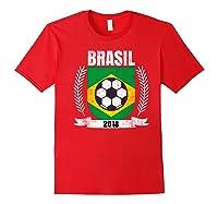Brazilian 2018 Football Brazil Soccer Fan T-shirt Red