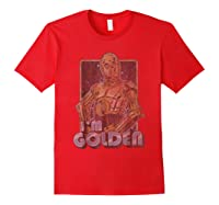 Star Wars C-3po I\\\'m Golden Pose Graphic T-shirt Red