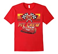 Disney Pixar Cars Mcqueen Pit Crew Red Distressed T-shirt T-shirt Red
