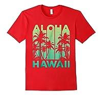 Aloha Hawaii Hawaiian Island Vintage 1980s Throwback Shirts Red