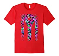 Floral Flower Boricua Taino Cool Gift Plum Puerto Rico Flag Shirts Red