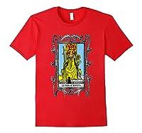 The Queen Of Wands Tarot T-shirt Red