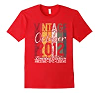 Gift For 8th Birthday October 2012 Vintage Limited Edition Premium T-shirt Red