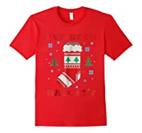 Naughty & Nice Matching T-shirts, Ugly Christmas Sweater #1 Red