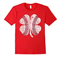 St Patrick\\\'s Day Shamrock Baseball Saint Paddy\\\'s T-shirt Red