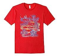 Disney Villains Map Premium T-shirt Red
