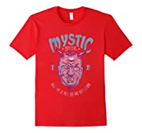 Twilight Zone Mystic Seer Yes Or No Question Graphic T-shirt Red