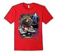 Marvel Avengers Endgame Rocket Logo Graphic T-shirt Red