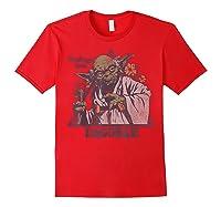 S Yoda Greetings From Dagobah Postcard Badge Shirts Red