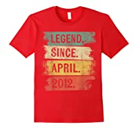 8 Year Old Gifts Legend Since April 2012 8th Birthday Shirts Red