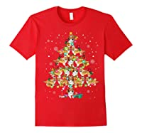Shetland Sheepdog Christmas Tree Funny Sheltie Christmas T-shirt Red