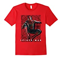 Marvel Infinity War Spider-man Web Jump Graphic T-shirt Red