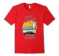 Now I Down To Sleep Halloween Alpaca Shirts Red