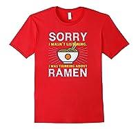 Kawaii Ra Japanese Noodle Food Anime Funny Shirts Red