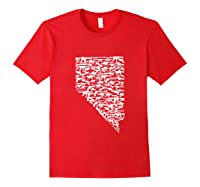 State Of Nevada Made Up Of Guns 2nd Adt Rights Shirts Red