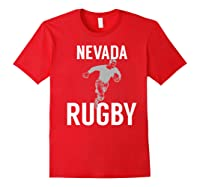 Nevada Rugby Player T-shirt Red