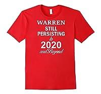Elizabeth Warren 2020 President Persisting Beyond Raglan Baseball Ts Shirts Red