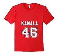 Kamala 46 - Sports Style Kamala Harris Supporter T-shirt Red