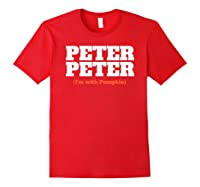 Funny Halloween For Peter Peter Couples Costume Shirts Red
