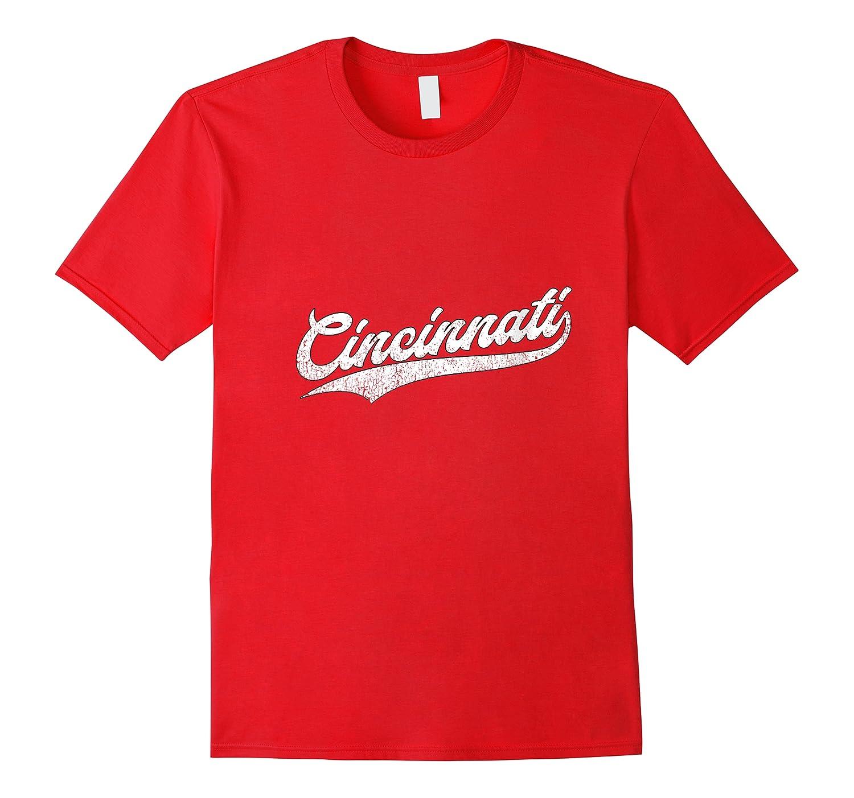Cincinnati Baseball Ohio Pride Vintage Retro Red Gift Shirts