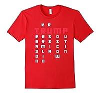 Impeach President Resist Russian Putin 2020 Anti Trump Premium T Shirt Red